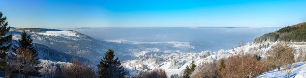 Aerial winter mountains panoramic view. Picturesque and gorgeous Stock Image