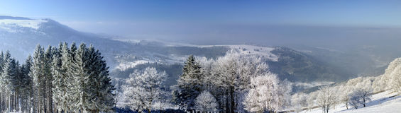 Aerial winter mountains panoramic view. Picturesque and gorgeous Royalty Free Stock Photos
