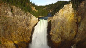 Aerial Wyoming Yellowstone National Park stock video
