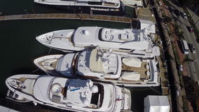 Aerial yacht video footage Stock Photos