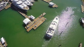 Aerial yacht video footage Stock Photo