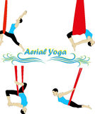 Aerial Yoga Royalty Free Stock Photo