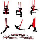 Aerial Yoga Royalty Free Stock Photography