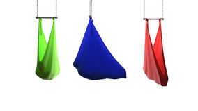 Aerial yoga hammock Royalty Free Stock Photography