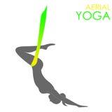 Aerial yoga logo template. Anti-gravity yoga Stock Photo