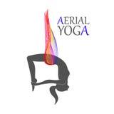 Aerial yoga for women Royalty Free Stock Photos