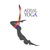 Aerial yoga for women Royalty Free Stock Image