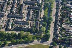 Aerials Dutch 1960's houses Stock Photos