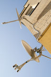 Aerials of satellite television Royalty Free Stock Photography