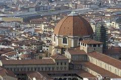 Aerialview de Florencia Imagenes de archivo