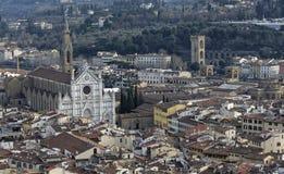 Aerialview de Florencia Imágenes de archivo libres de regalías