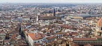 Aerialview de Florencia Foto de archivo libre de regalías