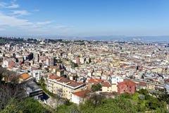 aerialview de Nápoles Imágenes de archivo libres de regalías