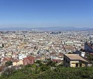 aerialview de Nápoles Foto de archivo libre de regalías