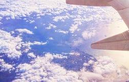 Aerialview del mar y de la costa Fotografía de archivo