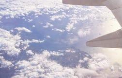 Aerialview del mar y de la costa Foto de archivo