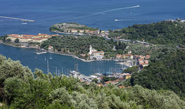aerialview of le grazie royalty free stock photography