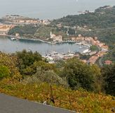 Aerialview of le grazie a little village near Portovenere. Italy stock images