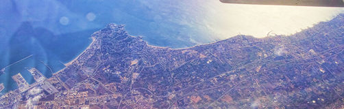 Aerialview of sea and coast Royalty Free Stock Photos