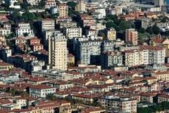 aerialview van La-spezia van een heuvel stock fotografie