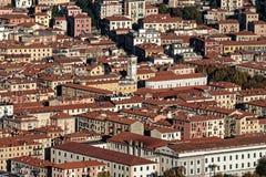 aerialview van La-spezia van een heuvel stock afbeelding