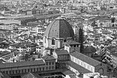 Aerialview von Florenz Lizenzfreie Stockfotos