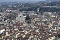Aerialview von Florenz Stockbild