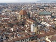 Aerialview von Florenz Stockfotografie