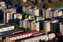 aerialview von La spezia von einem Hügel Lizenzfreies Stockbild