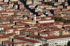 aerialview von La spezia von einem Hügel Stockbild