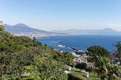 aerialview von Neapel Lizenzfreie Stockbilder