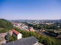 Aerieal Ansicht Geras bringt Architekturstadtthuringia unter Lizenzfreies Stockfoto