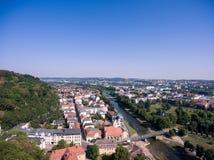 Aerieal Ansicht Geras bringt Architekturstadtthuringia unter Lizenzfreie Stockfotos