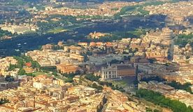 Aeriel view of Ancient Rome, Italy royalty free stock image