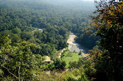 Aeriel View of Danum Valley Sabah Borneo Royalty Free Stock Photography