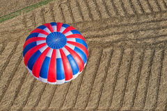 Aeriel view of a hot air balloon Royalty Free Stock Images