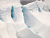 Aeriel view of the huge icebergs in Greenland Stock Image