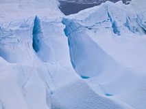 Aeriel view of the huge icebergs in Greenland Stock Photo