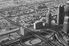 Aeriel View of Interchange Royalty Free Stock Images