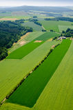 Aeriel view on rural landscape background with plant fields Stock Photo