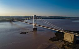 Aeriel View of Severn Bridge Royalty Free Stock Photo