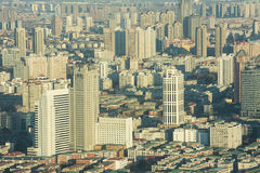 Aeriel view of Tianjin City. Royalty Free Stock Images