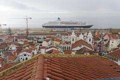 Aerielview de Lisboa Fotografía de archivo libre de regalías