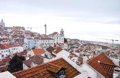 Aerielview de Lisboa Imágenes de archivo libres de regalías