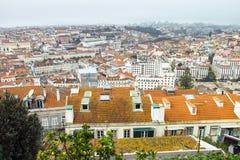 Aerielview de Lisboa Fotos de archivo libres de regalías
