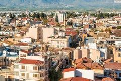 Aerival view of Ledra street. Nicosia, Cyprus Royalty Free Stock Photography