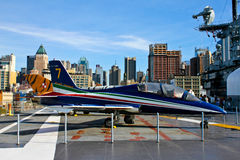 Aermacchi MB-339 jet. Stock Photography