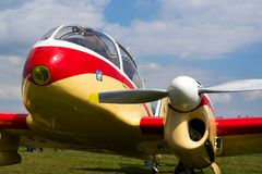 Aero 145 μηχανοκίνητα αστικά αεροσκάφη χρησιμότητας δίδυμος-εμβόλων που παράγονται στην Τσεχοσλοβακία Στοκ φωτογραφίες με δικαίωμα ελεύθερης χρήσης