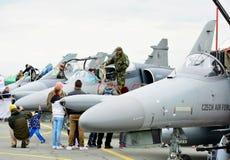 Aero ALCA L-159 planiert Ausstellung Stockfotos