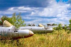Aero- aviones de instructor militares checoslovacos viejos del jet de L-29 Delfin Maya Fotos de archivo libres de regalías